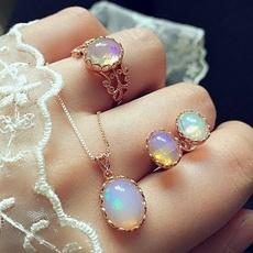 Jewelry, Stud Earring, nekclace, opals
