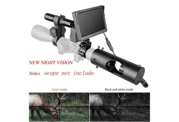 """5/"""" Infrared Night Vision System Rifle Scope Hunting Sight 850nm LED IR Camera"""