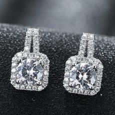 Sterling, DIAMOND, Jewelry, Sterling Silver Earrings
