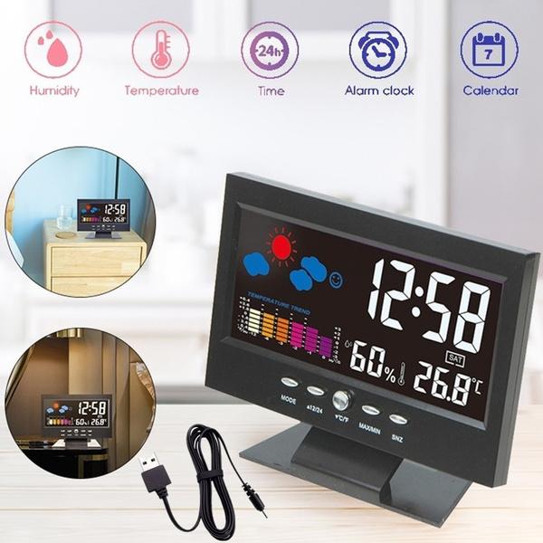 hygrometerclock, bedsideclock, Indoor, calendarclock