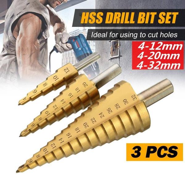 steeldrillstep, woodworkingpunch, hexshank, holecutter