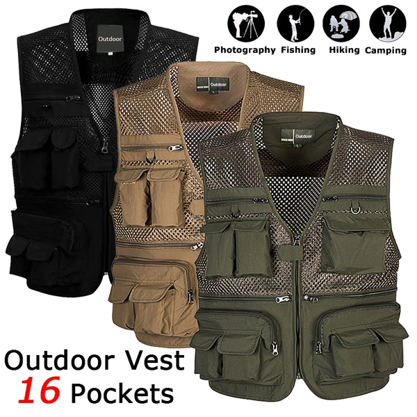 Summer, Vest, Plus Size, Hunting
