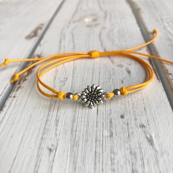 Handmade, adjustableanklet, Flowers, Jewelry