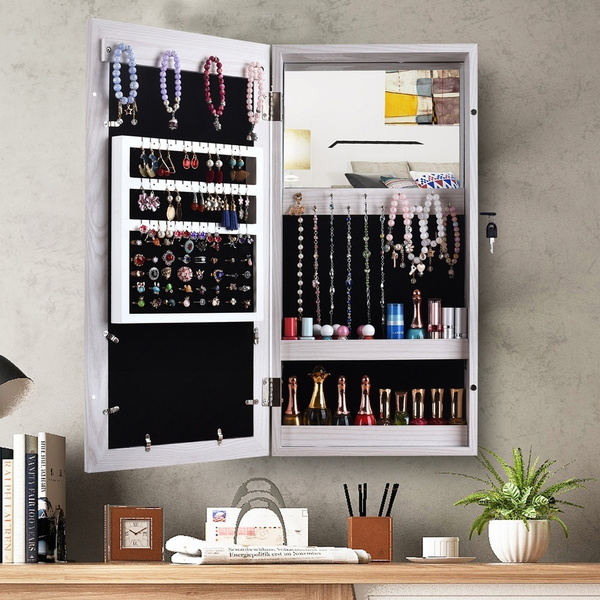 Photo Frames Wall Mounted Mirrored, Mirrored Jewellery Cabinet Wall Mounted
