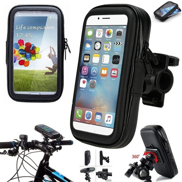 Waterproof Motorcycle Bike Cycling Handlebar Mount Holder Cell Phone Case Bag