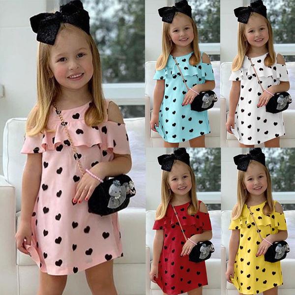 kids, Heart, girls dress, Fashion