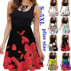 Summer, Plus Size, vest dress, women dresses