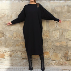 autumnwinter, black, Plus Size, Winter