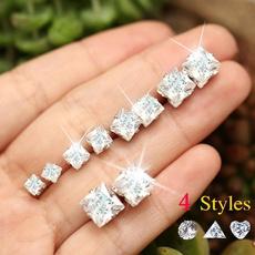 Heart, Triangles, Jewelry, Stud Earring