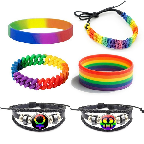 rainbow, Wristbands, gay, Silicone