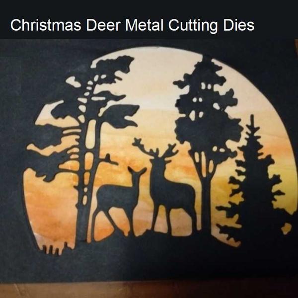 stencil, Christmas, cuttingdie, Deer