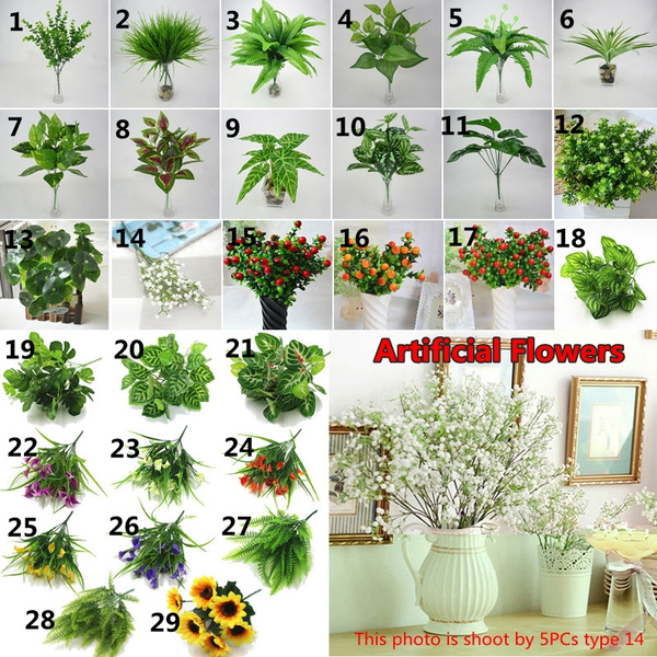 29 Types Artificial Plants And Flowers Home Office Decorative Plastic Fake Plants Wish