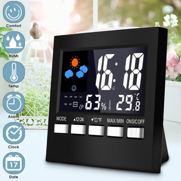 weatherstationclock, humidityclock, Colorful, thermometerclock