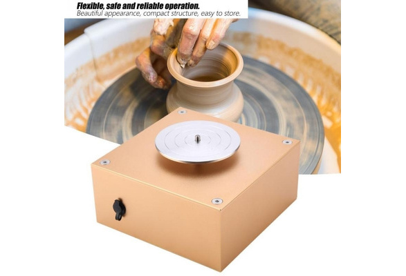 12V 1500RPM Pottery Machine Ceramic Clay Making Machine DIY Craft Tool 100-240V for School Teaching//Pottery Bar//Home Junluck Mini Pottery Wheel US Reliable//Low Noise//Energy Saving