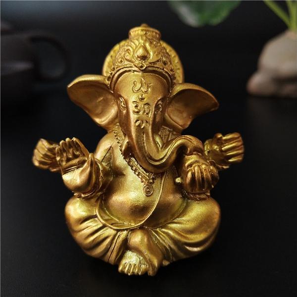 golden, buddhastatue, ganesha, Jewelry