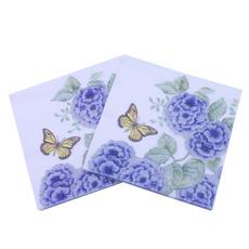 Blues, decoupage, Flowers, butterfly