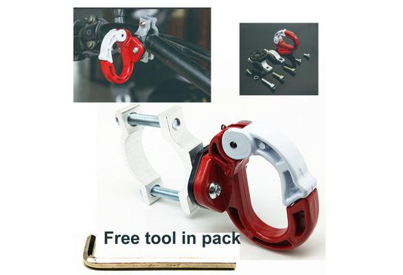 Aluminum Universal Motorcycle Holder Carry Helmet Luggage Bag Bottle Hanger Hook