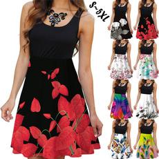slim dress, fashion women, Plus Size, Floral