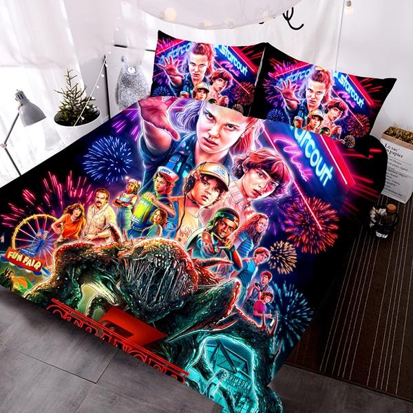 Decor, strangerthings3, Bedding, bedroom