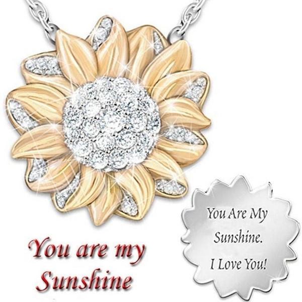 Heart, Jewelry, Sunflowers, heart necklace