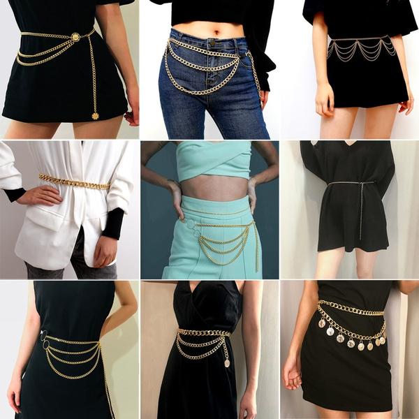 golden, Fashion, Chain, Dress