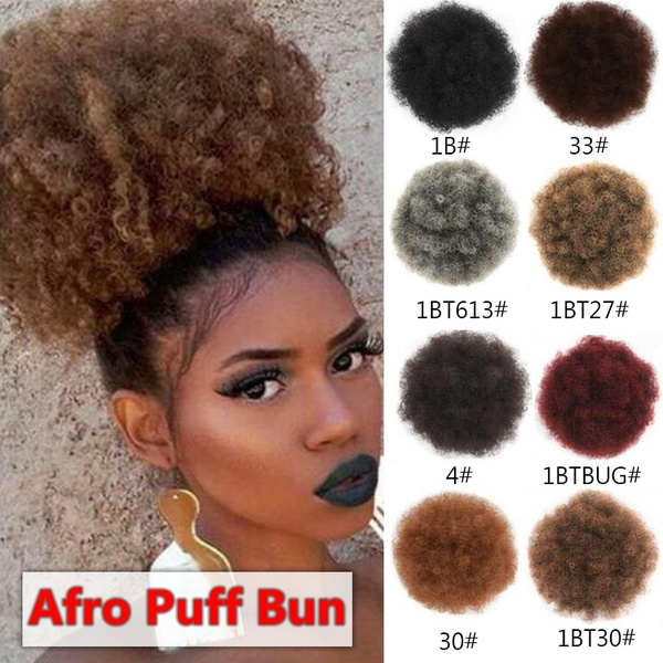 9 Colors High Puff Afro Hair Bun Kinky Curly Hair Synthetic Ponytail Extension Drawstring Chignon Fashion Hair Accessoreis Wish