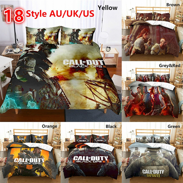 Call Duty Game Pattern Duvet Cover, Call Of Duty Queen Bedding