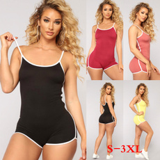 bodycon jumpsuits, Summer, Plus Size, Fitness
