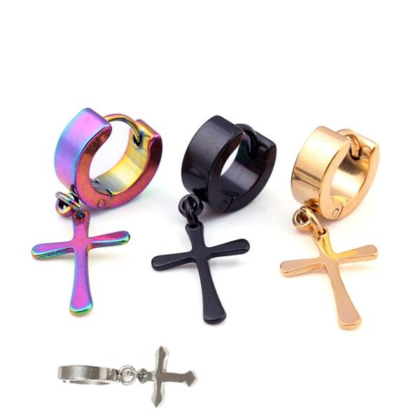 Mens Earrings, Steel, Jewelry, titanium