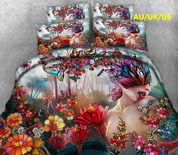 butterfly, Decor, twinbedset, Cover