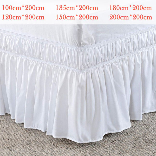Elastic Band Wrap Around Bed Skirt Dust, Wrap Around Bed Skirt Queen Size