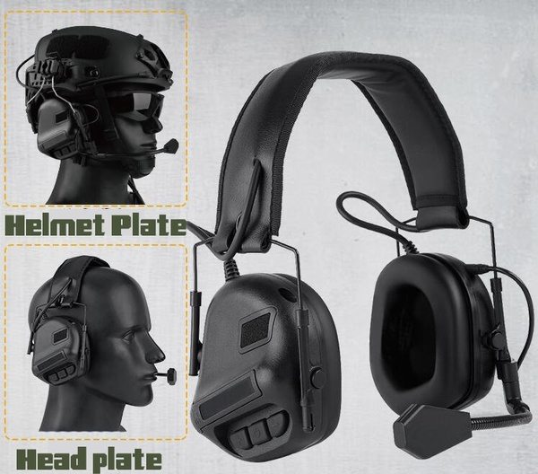 huntingheadphone, tacticalheadphonesforhelmet, paintballtacticalaccessory, Hunting