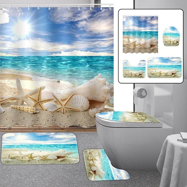 Summer, Bathroom, Home Decor, Waterproof