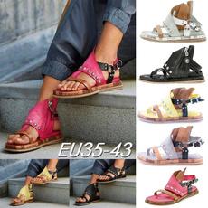 Flip Flops, Sandals, Womens Shoes, leather