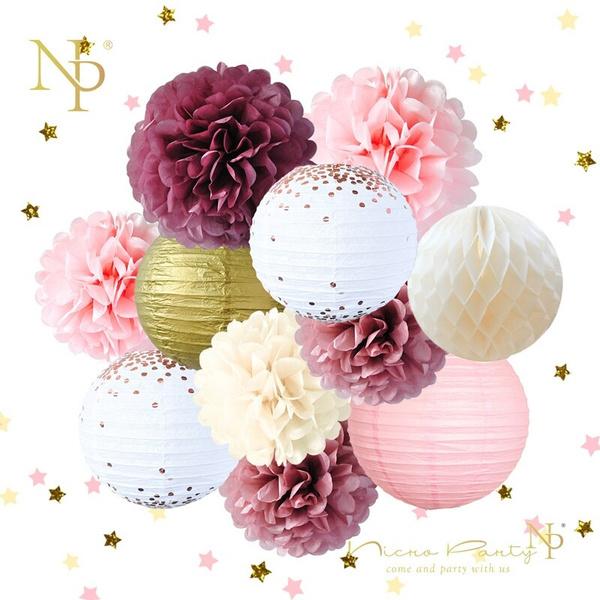 Decor, Flowers, pompom, Wedding