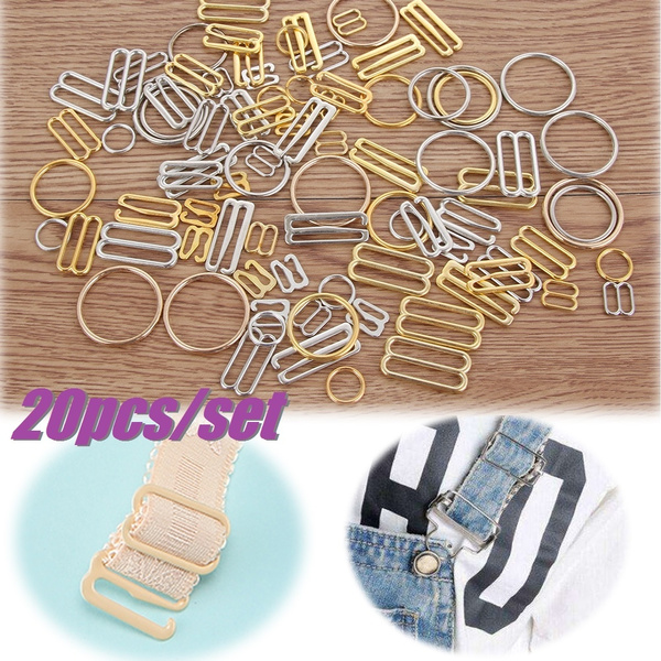 Style1-1cm,Gold Pet Collar Apparel Accessaries Bags Decoration Sewing Tool Sewing Supplies Sliders Strap Bra Rings Adjust Buckles Tri-Glide Buckle