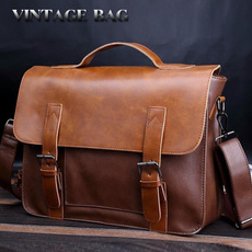 homeampoffice, Briefcase, leather, Vintage