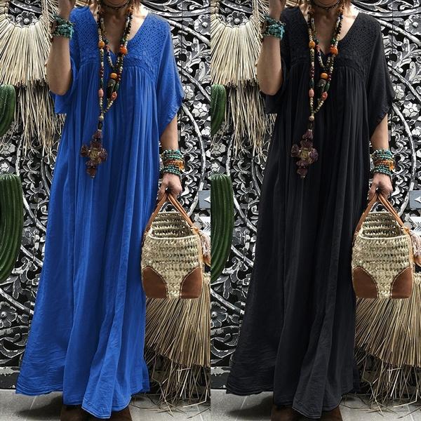 loosedressforwomen, Summer, Fashion, hollowoutdres