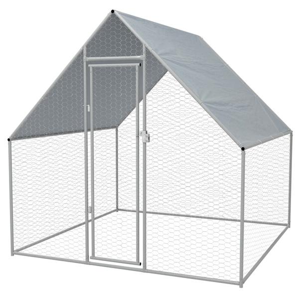 Steel, chickencoop, Outdoor, silver
