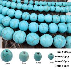 8MM, Turquoise, charmbead, Jewelry