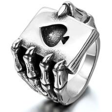 Steel, Stainless, Poker, titanium steel