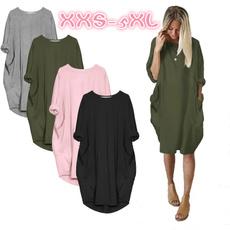 Summer, autumn and winter dress, short dress, Sleeve