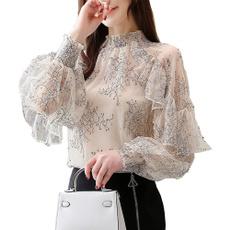 blouse, ruffle, Lace, chiffon