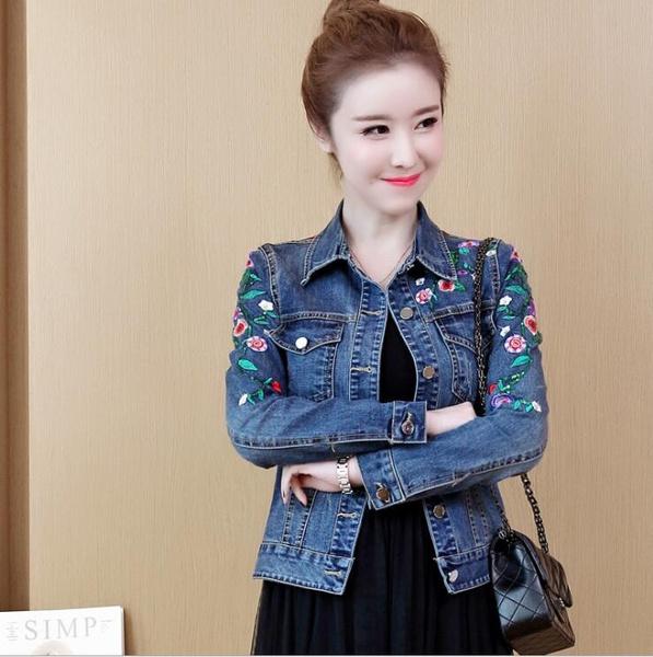 embroiderydenimjacket, vintagedenimjacket, streetstylecoat, plussizedenimjacket