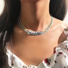 Chain Necklace, Jewelry, Chain, beadedchoker
