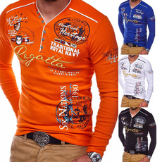 Polyester, letterclas, singlebreastedmensshirt, polyestermensshirt