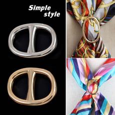 scarfclipbow, Simple, slikscarf, Buckles