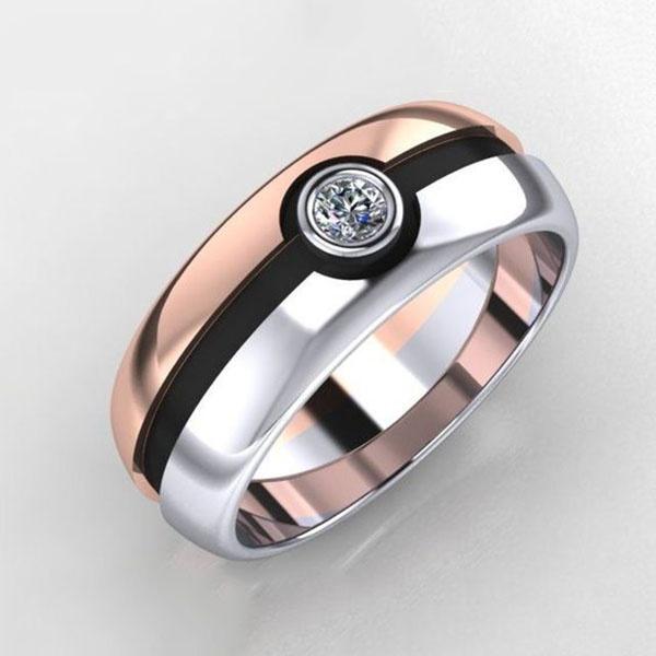 wedding ring, gold, baguefemme, sterling silver