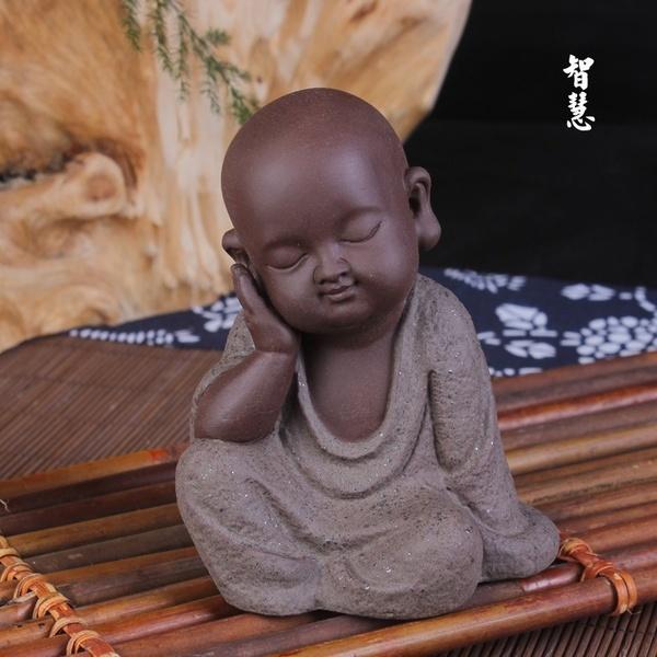monkfigurinetathagata, ceramicbuddhastatue, buddhistmonkdecoration, littlemonkbuddha
