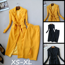 Fashion, high waist, Long sleeved, Waist